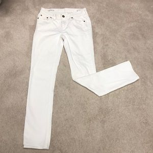 J Crew Matchstick off white jeans
